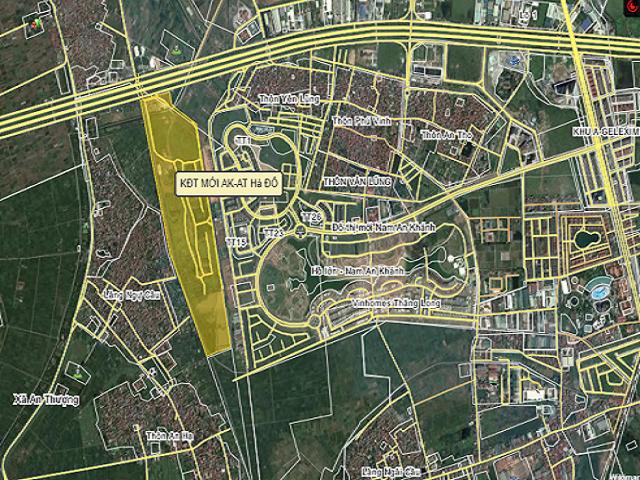 Dự án khu đô thị Hà Đô Dragon City rất gần khu đô thị Nam An Khánh