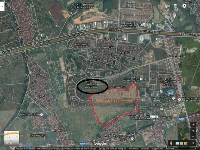 Khu đô thị Nam An Khánh gần với Vinhome Thăng Long